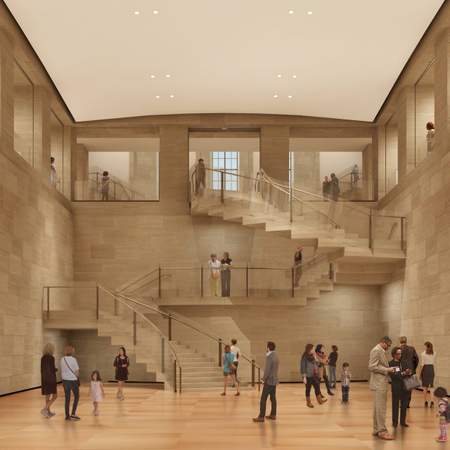 Architectural rendering by Gehry Partners, LLP and KX-L. Photo courtesy Philadelphia Museum of Art.